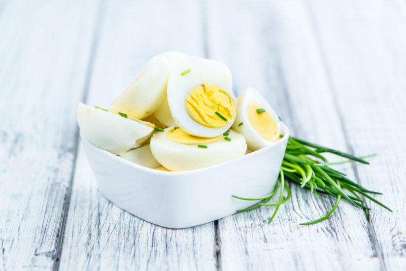 Huevos cocidos. Proteína